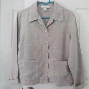 Jones New York Sport Linen Button Front Jacket